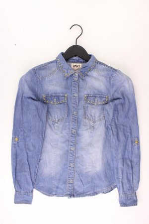 Only Jeansbluse Größe 36 Langarm blau aus Baumwolle