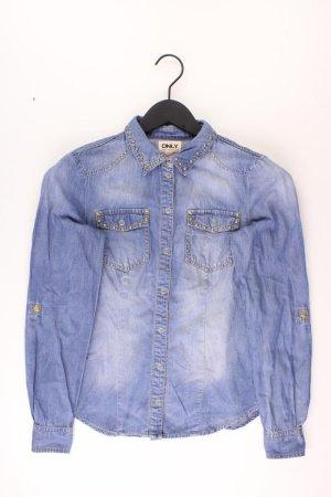 Only Denim Blouse blue-neon blue-dark blue-azure cotton