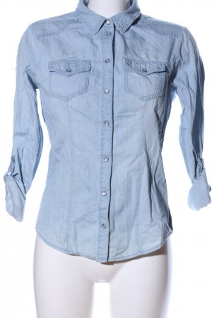 Only Jeanshemd blau Business-Look