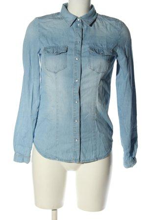 Only Camicia denim blu stile casual