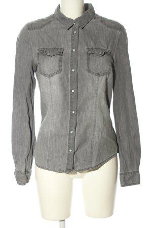 Only Chemise en jean gris clair style décontracté