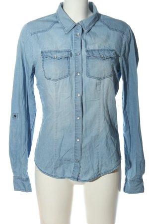 Only Chemise en jean bleu style décontracté