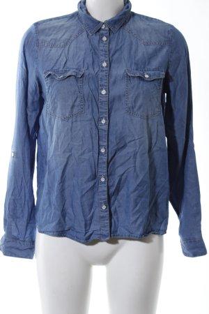 Only Spijkershirt blauw casual uitstraling