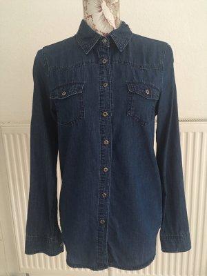 Only Jeansowa koszula niebieski-ciemnoniebieski Bawełna
