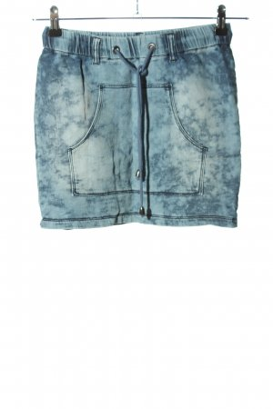 Only Jeansrock blau Allover-Druck Casual-Look