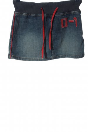 Only Jeansrock blau-rot Casual-Look