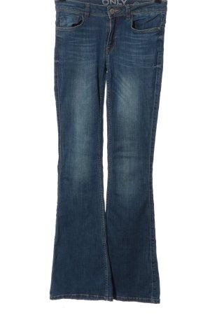 Only Jeans a zampa d'elefante blu stile casual