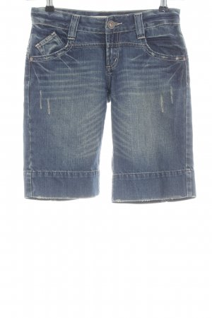 Only Jeansshorts blau Street-Fashion-Look