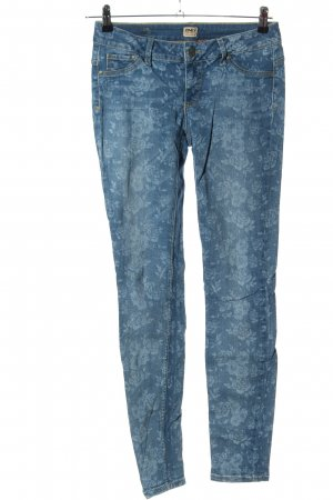 Only Jeggings blau Allover-Druck Casual-Look