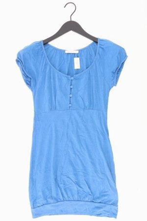 Only Jerseykleid Größe S Kurzarm blau aus Baumwolle