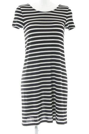 Only Jerseykleid schwarz-weiß Streifenmuster Casual-Look