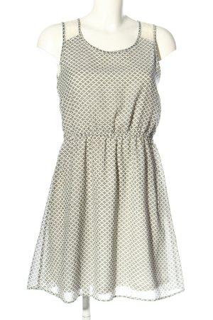 Only Sukienka z dżerseju w kolorze białej wełny-czarny Na całej powierzchni