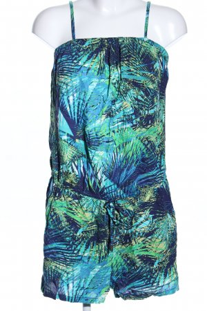 Only Jumpsuit türkis-blau abstraktes Muster Casual-Look