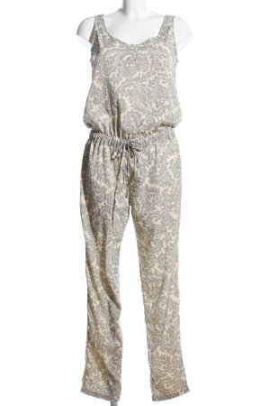 Only Jumpsuit wollweiß-hellgrau Allover-Druck Casual-Look
