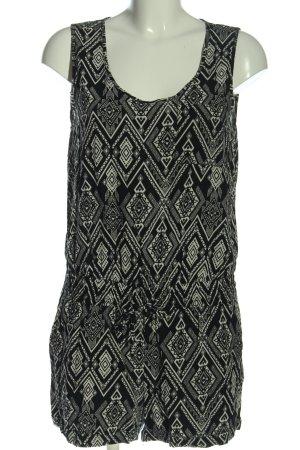 Only Jumpsuit schwarz-weiß grafisches Muster Casual-Look
