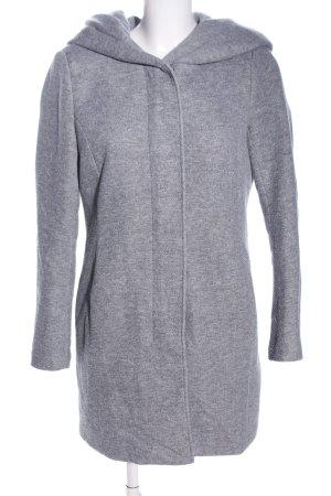 Only Chaqueta con capucha gris claro moteado look casual