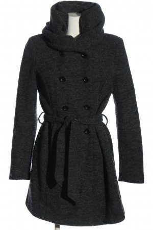 Only Heavy Pea Coat black-light grey casual look