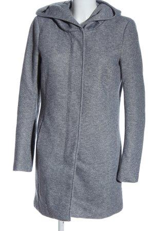 Only Abrigo con capucha gris claro moteado look casual