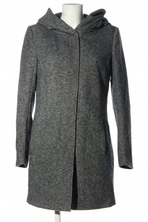 Only Hooded Coat light grey flecked casual look