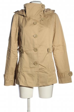 Only Hooded Coat cream casual look