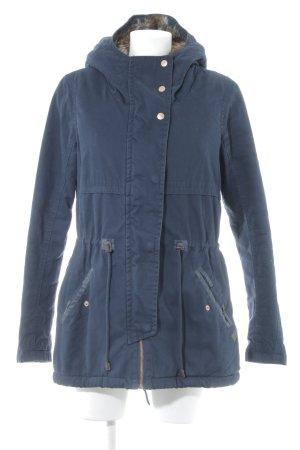 Only Manteau à capuche bleu foncé style décontracté