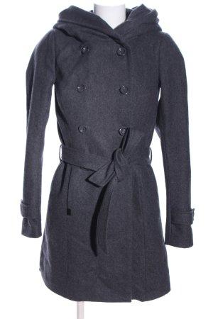 Only Manteau à capuche gris clair moucheté style décontracté