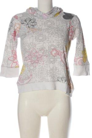 Only Blusa con capucha estampado repetido sobre toda la superficie look casual