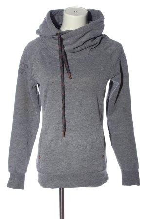 Only Kapuzensweatshirt hellgrau meliert Casual-Look