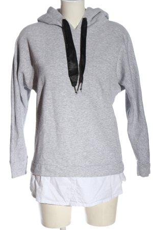 Only Kapuzensweatshirt hellgrau-weiß meliert Casual-Look