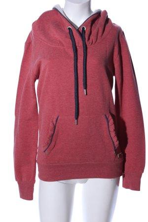 Only Kapuzensweatshirt rot meliert Casual-Look