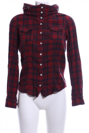 Only Karobluse rot-blau Karomuster Business-Look