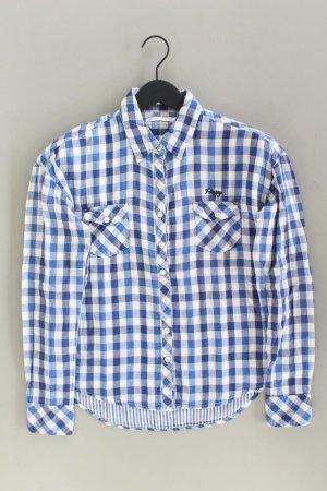 Only Checked Blouse blue-neon blue-dark blue-azure cotton