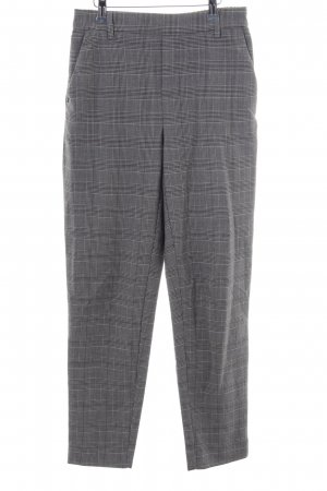 Only Peg Top Trousers light grey-black check pattern business style