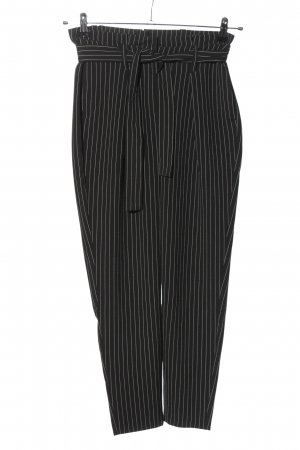 Only Peg Top Trousers black-white striped pattern casual look