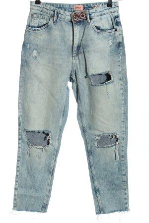 Only Jeans carotte bleu style décontracté