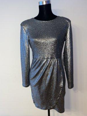 ONLY Kleid silber/glitzer