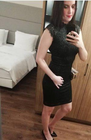 Only Kleid Spitze Lace Spitzenkleid Etuikleid Bodycon Glitzer