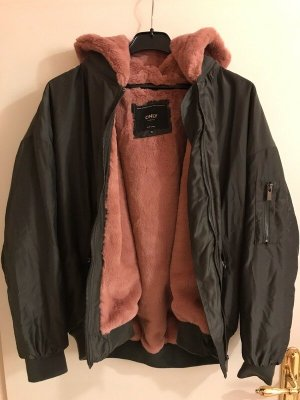Only Kunst-fell Fake Fur Bomberjacke Toronto grau olivgrün rosa pink 42 XL Neu