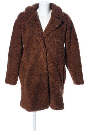 Only Cappotto in eco pelliccia marrone stile casual
