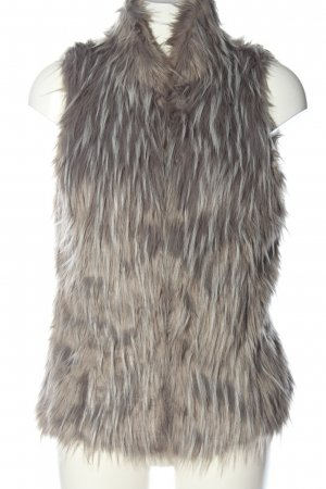 Only Fake Fur Vest light grey-natural white casual look