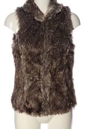 Only Kamizelka ze sztucznym futrem brązowy W stylu casual