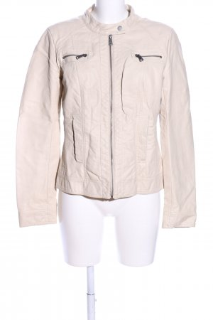 Only Giacca in ecopelle crema stile casual
