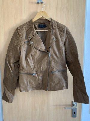 Only Veste en cuir synthétique marron clair-chameau