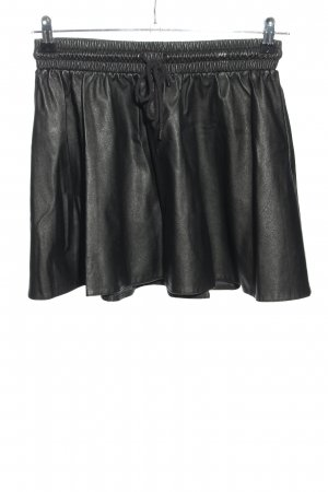 Only Faux Leather Skirt black glittery
