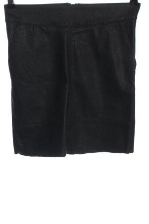 Only Jupe en cuir synthétique noir style décontracté
