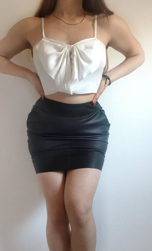 Only Faux Leather Skirt black-silver-colored