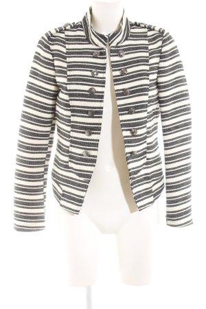 Only Kurz-Blazer weiß-schwarz Streifenmuster Elegant
