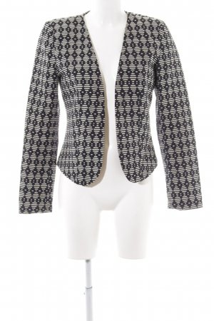 Only Kurz-Blazer schwarz-wollweiß abstraktes Muster Business-Look