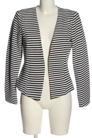 Only Korte blazer wit-zwart gestreept patroon casual uitstraling