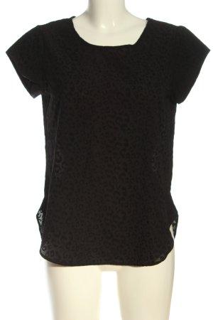 Only Blusa de manga corta marrón-negro look casual
